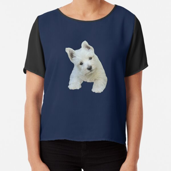 West Highland White Terrier Puppy portrait 3 Chiffon Top