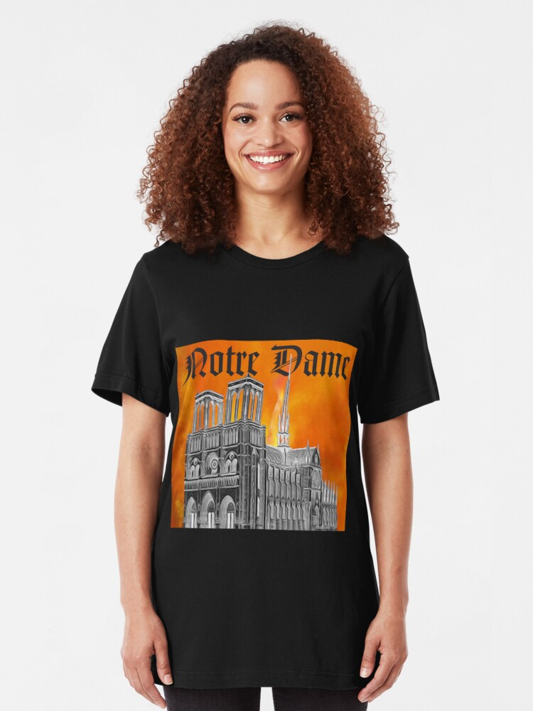 Alternate view of Le Feu de Notre Dame  Slim Fit T-Shirt