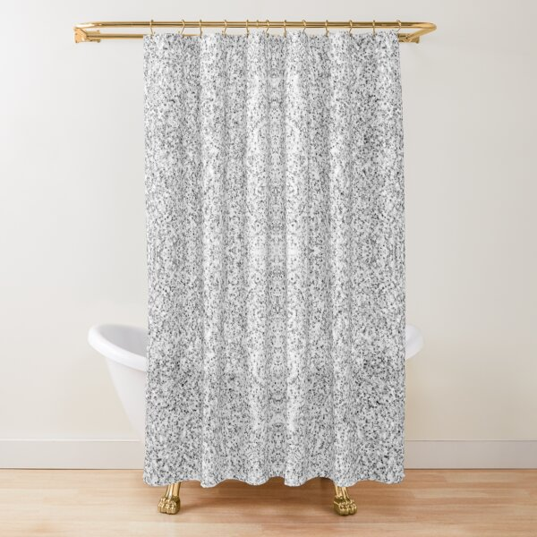 Beautiful Silver glitter sparkles Shower Curtain