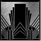 Silber Art-Deco-Design von peggieprints