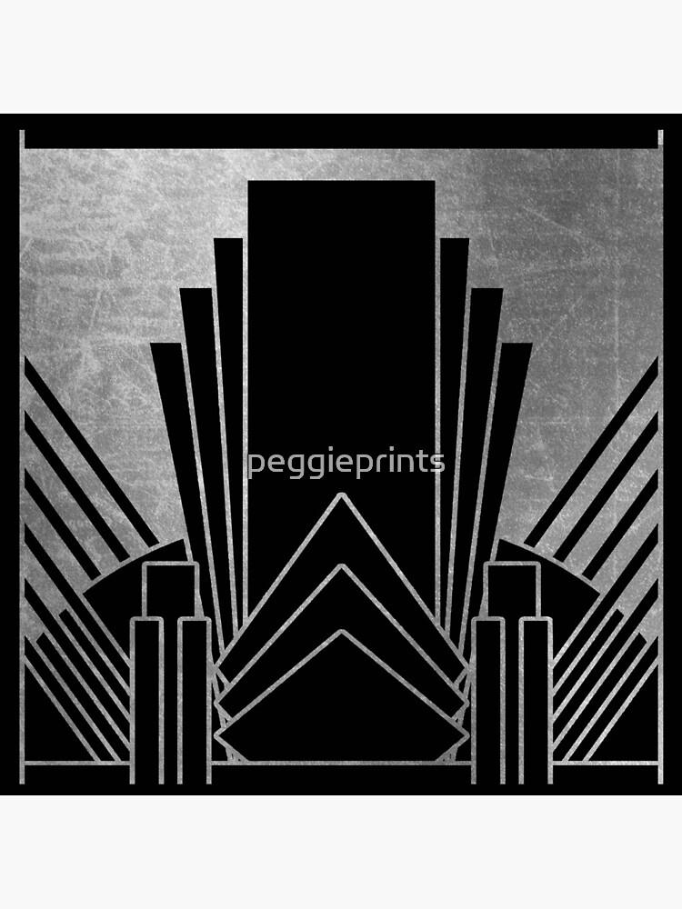 Silver art deco design by peggieprints