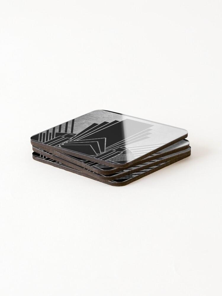 Alternate view of Silver art deco design Coasters (Set of 4)