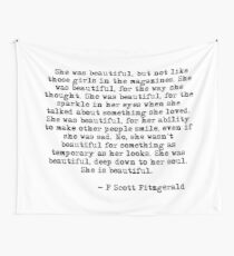 She was beautiful - F Scott Fitzgerald Tapestry