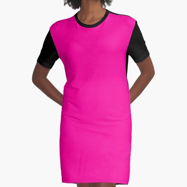 Neon Pink Graphic T-Shirt Dress