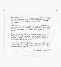 Für was es wert ist - F Scott Fitzgerald-Zitat Wandbehang