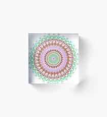 Full bloom Mandala Acrylic Block
