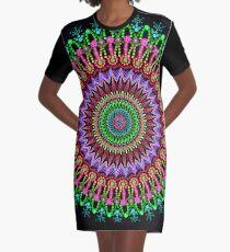 Full bloom Mandala Graphic T-Shirt Dress