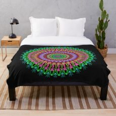 Full bloom Mandala Throw Blanket