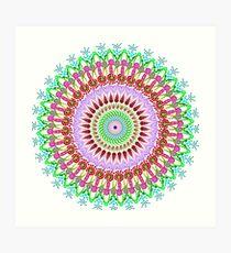 Full bloom Mandala Art Print