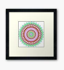 Full bloom Mandala Framed Print