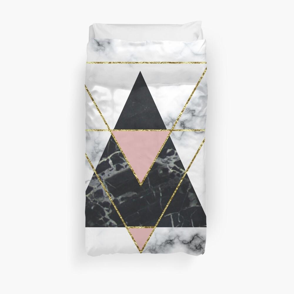 Geo glam marble Duvet Cover