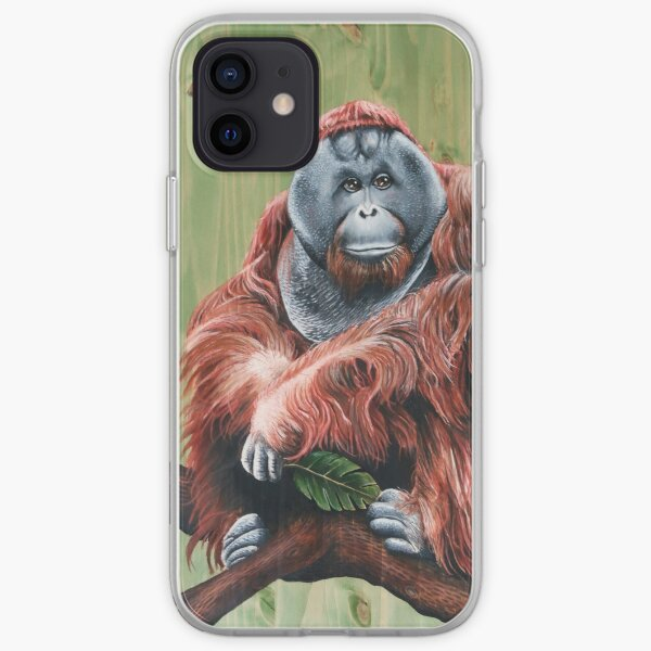 Bornean Orangutan - Zoological Artwork - (without text) iPhone Soft Case