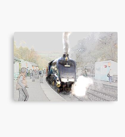 Sir Nigel Gresley at Grosmont Canvas Print