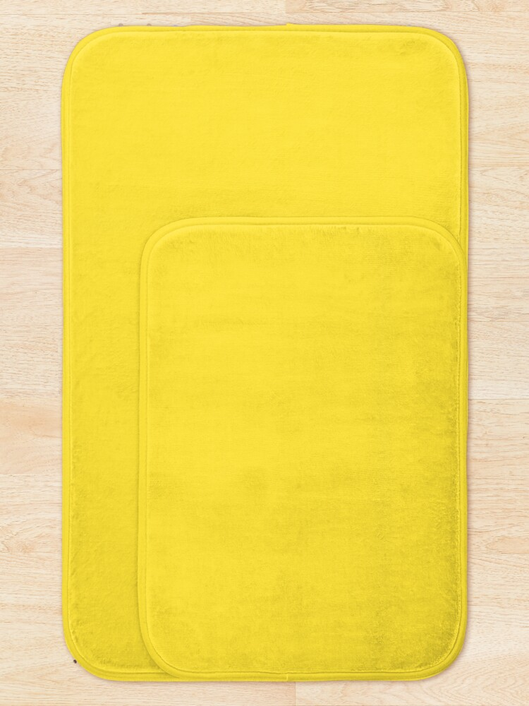 Alternate view of All imperial yellow Bath Mat