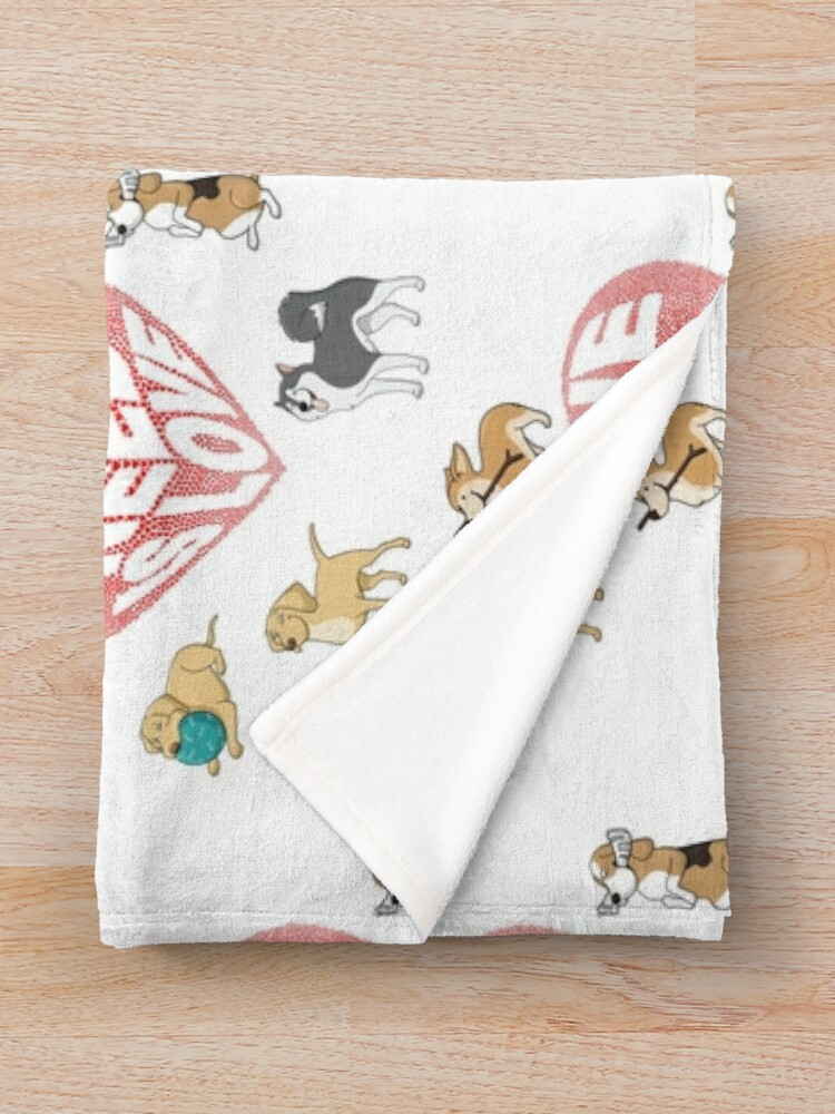 Alternate view of All We Need is Love Dogs Throw Blanket