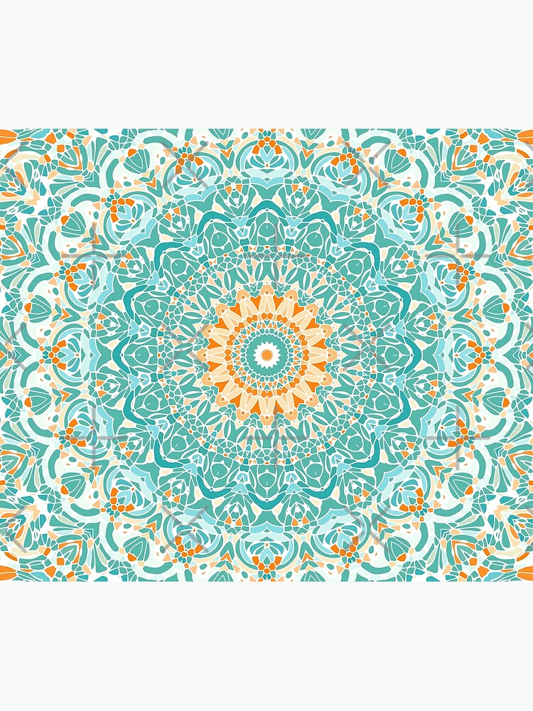 Orange and Turquoise Clarity Mandala by kellydietrich