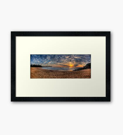 A Sky To Die For - Warriewood Beach, Sydney ( 35 Exposure HDR Panorama) - The HDR Experience Framed Print