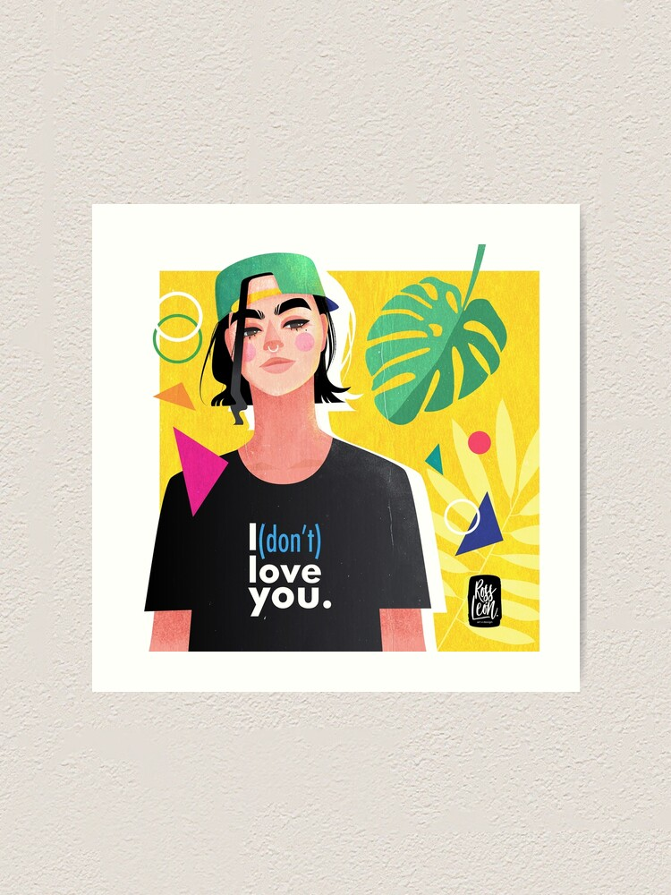 Alternate view of I (don't) Love You Art Print