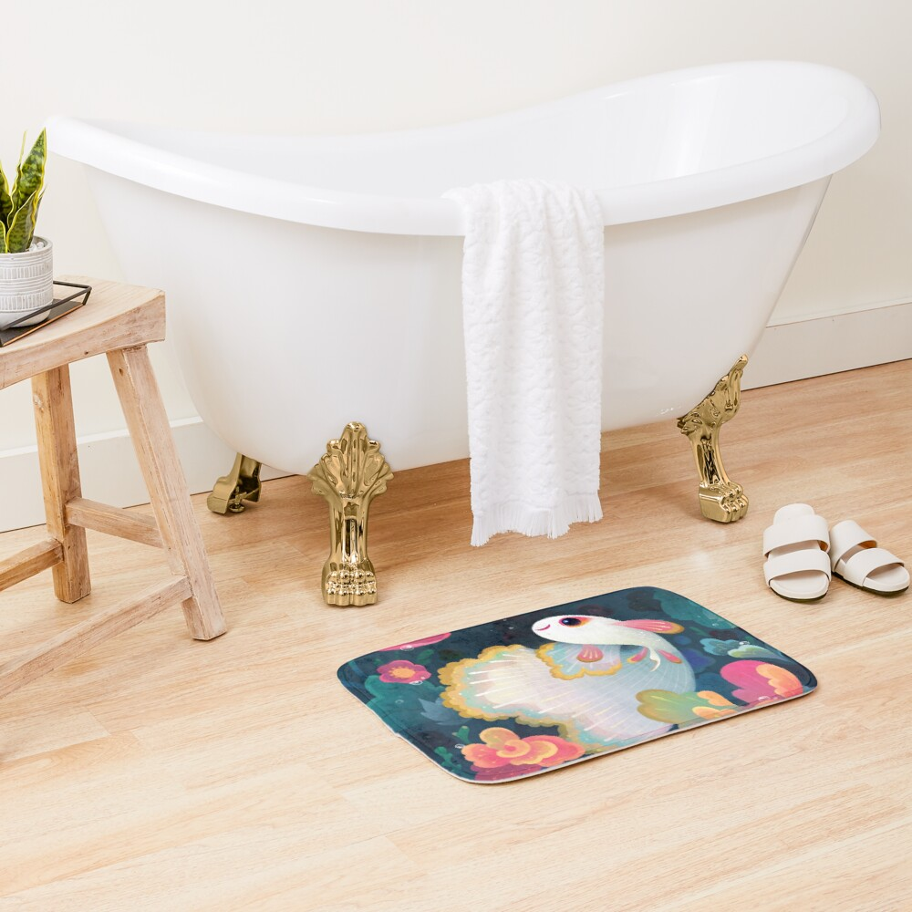 Flower guppy Bath Mat