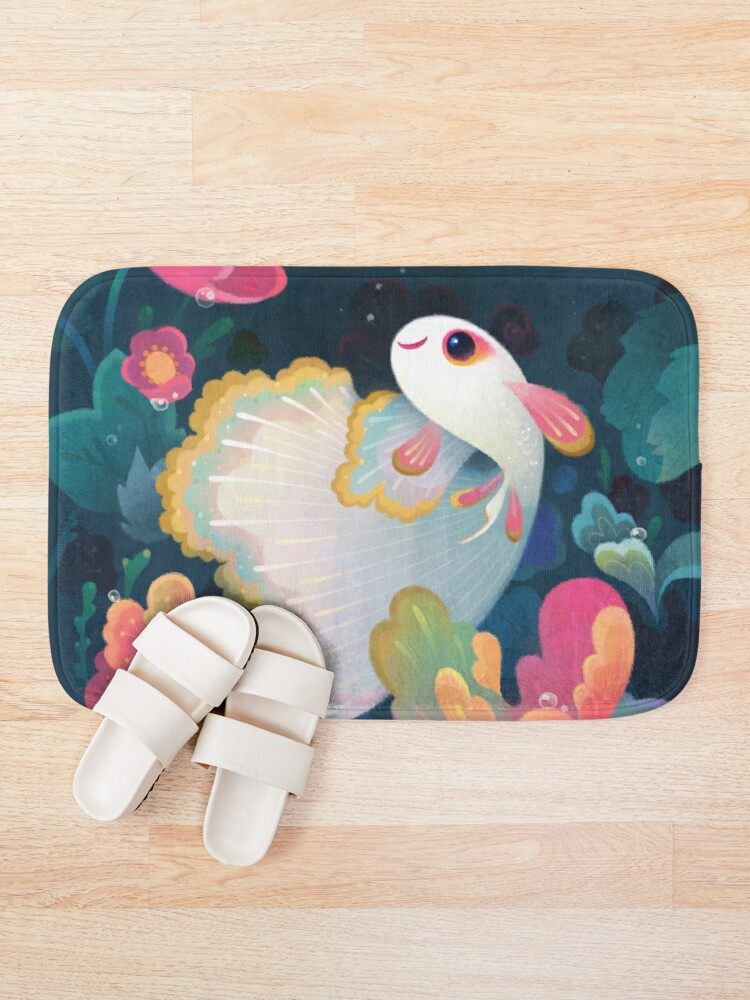 Alternate view of Flower guppy Bath Mat