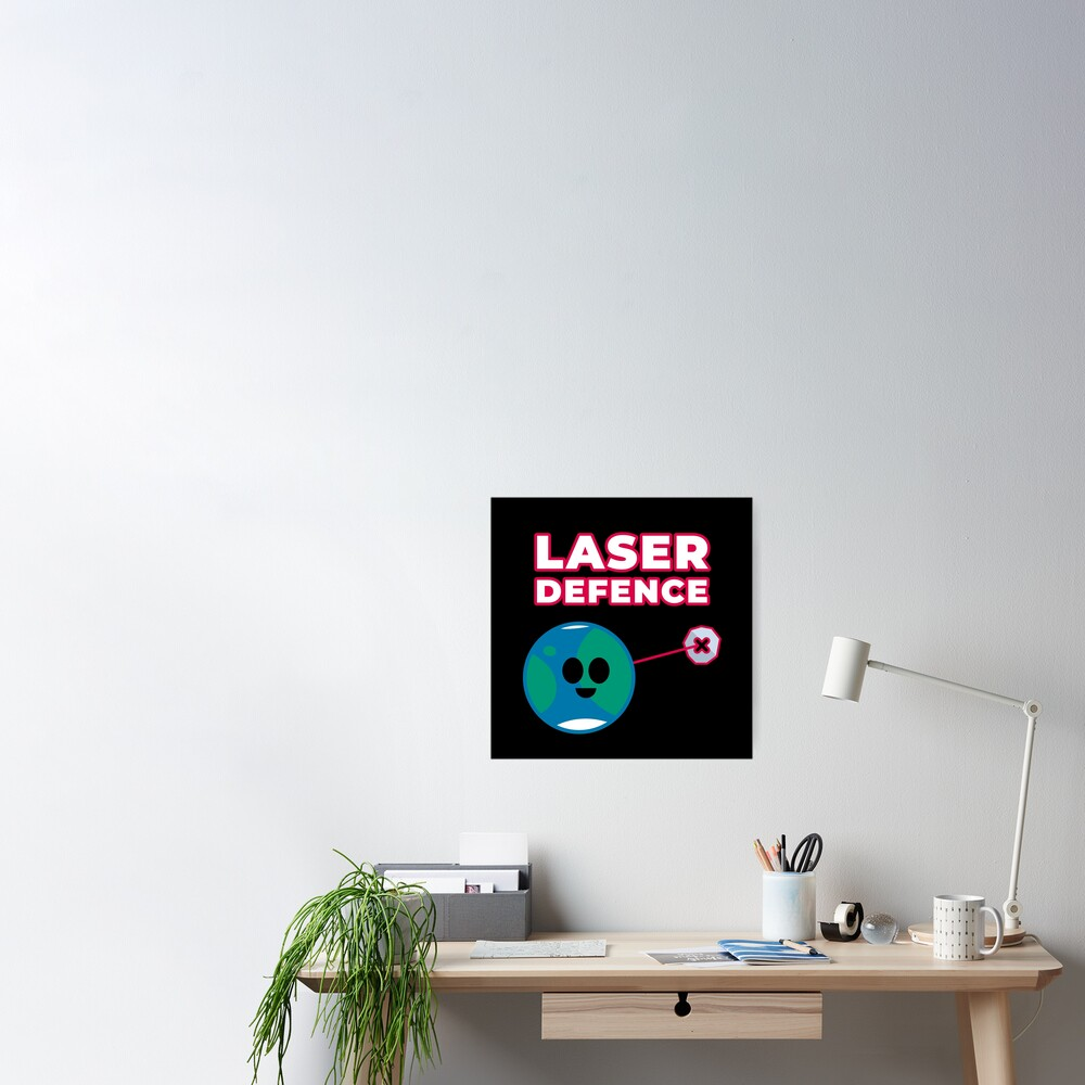 Space Laser Defence Near Earth Asteroids Yarkovsky Effect Poster