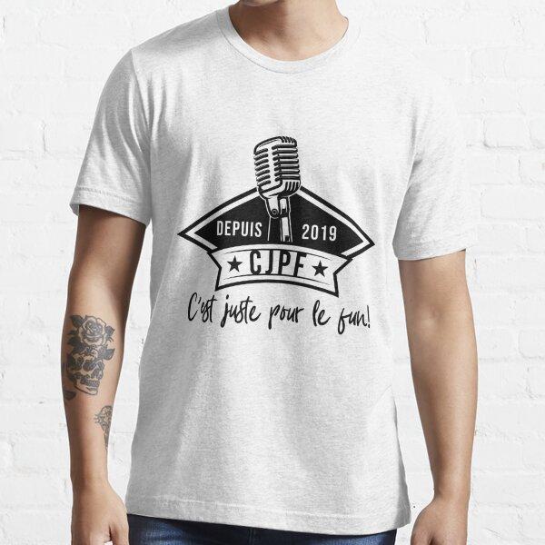CJPF Official Black & White Logo Essential T-Shirt