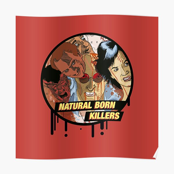 Natural Born Killers star collage  Poster