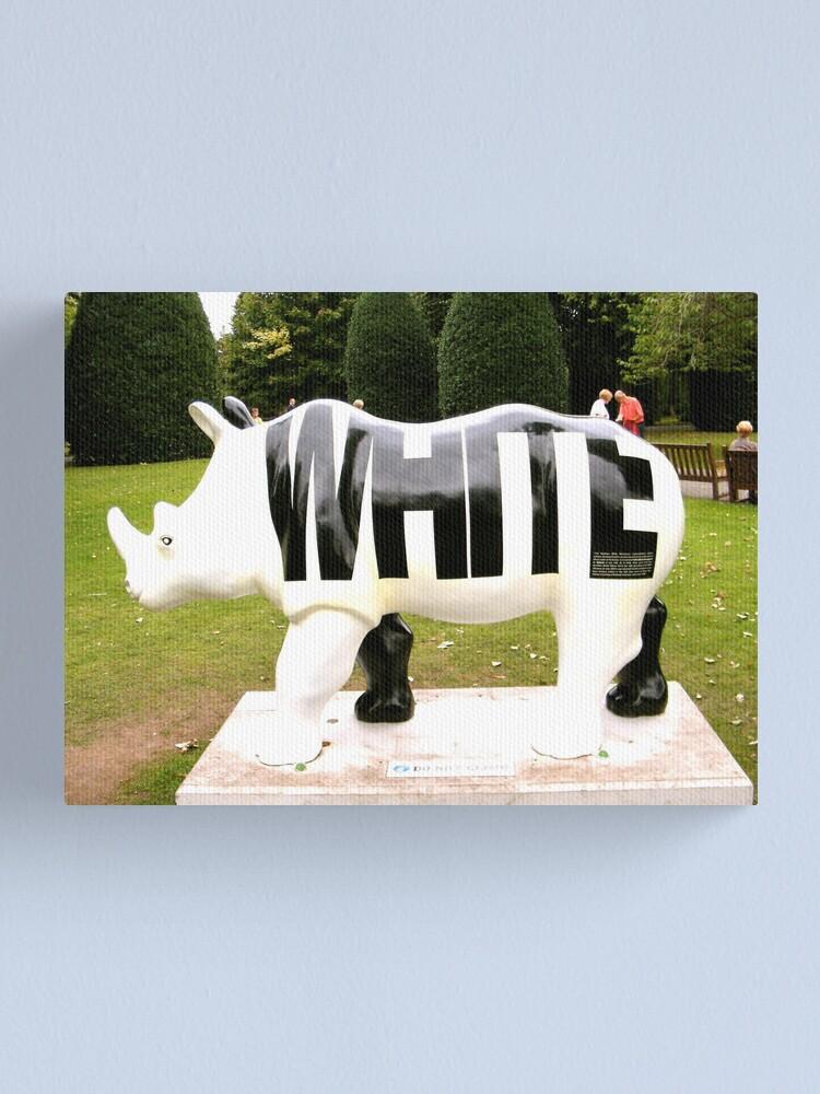 Alternate view of WHITE Canvas Print