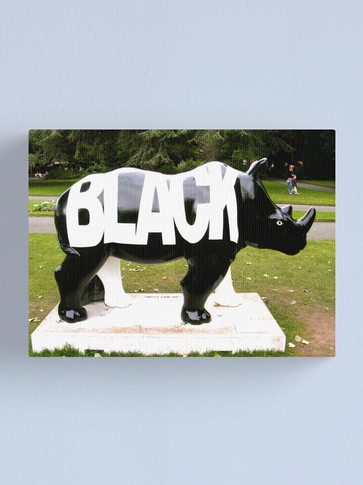 Alternate view of BLACK Canvas Print