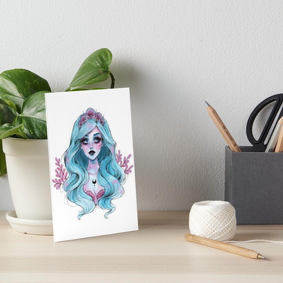 Perlglänzende Meerjungfrau Galeriedruck