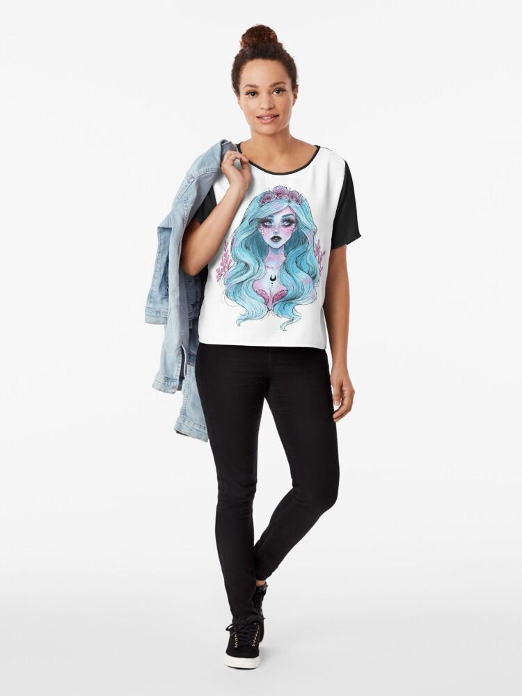 Alternative Ansicht von Perlglänzende Meerjungfrau Chiffon Top