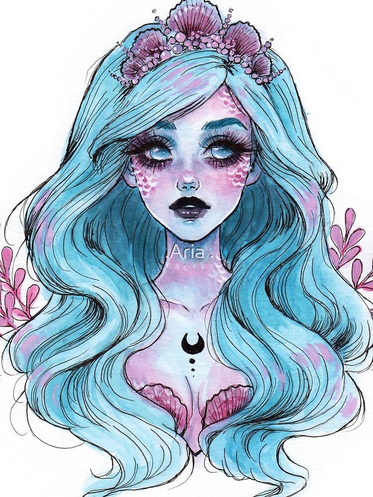 Perlglänzende Meerjungfrau von ARiAillustr