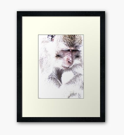Pensive - Contemplating life Framed Print