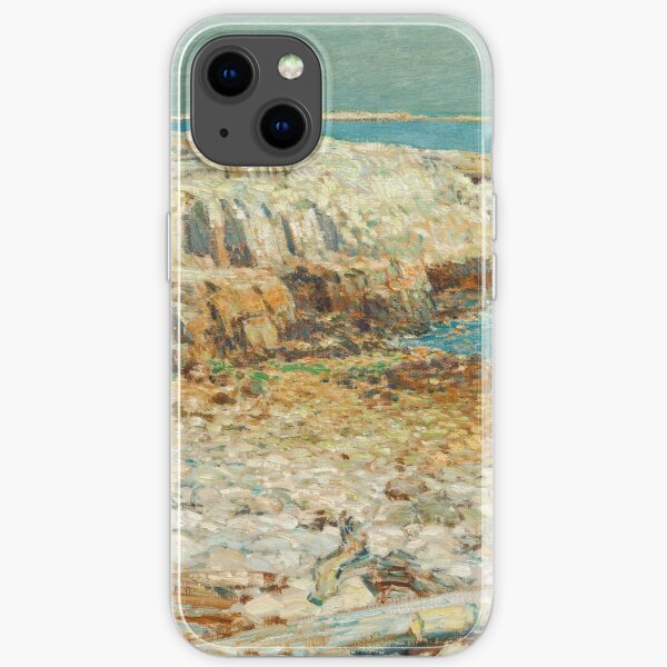 A North East Headland Oil Painting by Childe Hassam iPhone Soft Case