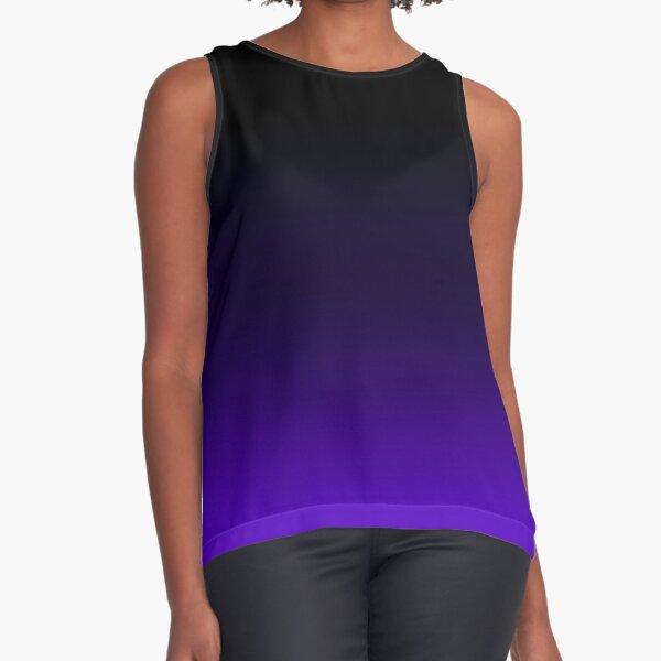 Black/Purple Gradient Sleeveless Top