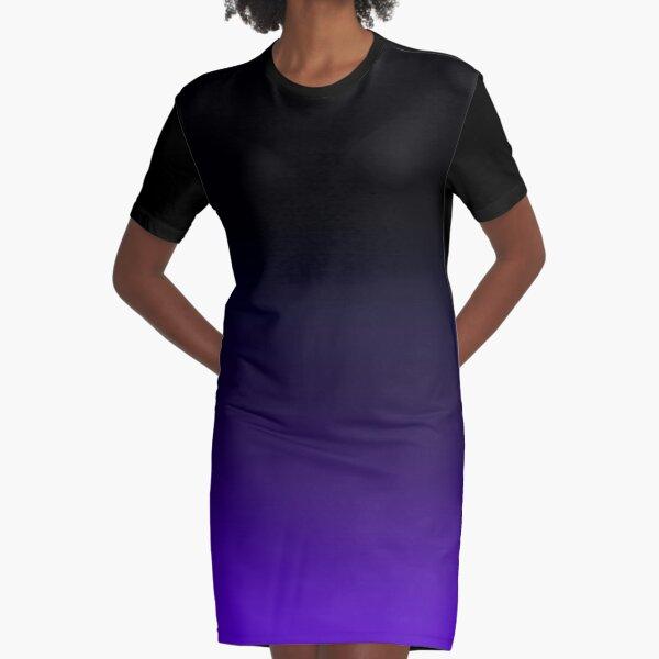 Black/Purple Gradient Graphic T-Shirt Dress