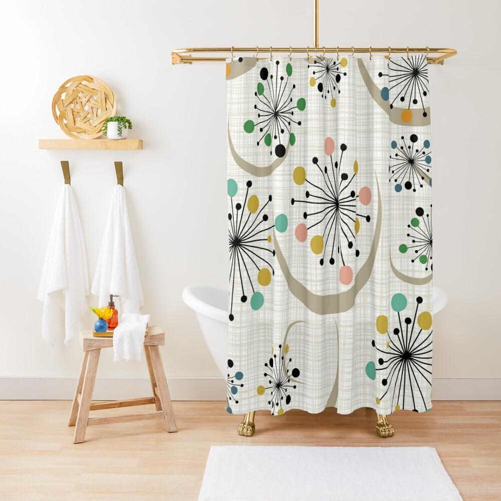 Eames Era Starbursts Shower Curtain