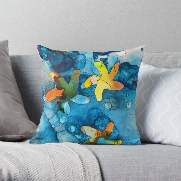 Starfish lucky Throw Pillow