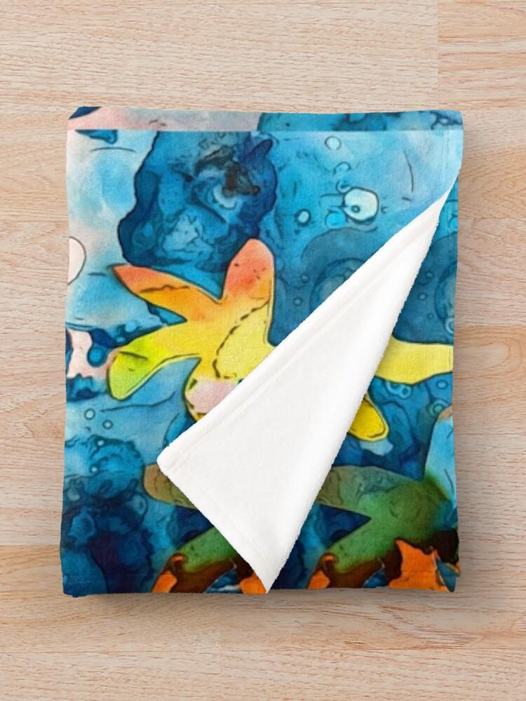 Alternate view of Starfish lucky Throw Blanket