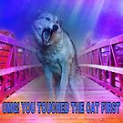 Funny dog freaking out by TaylerMacneill