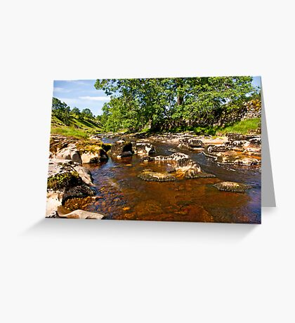 River Wharfe in Langstrothdale Greeting Card