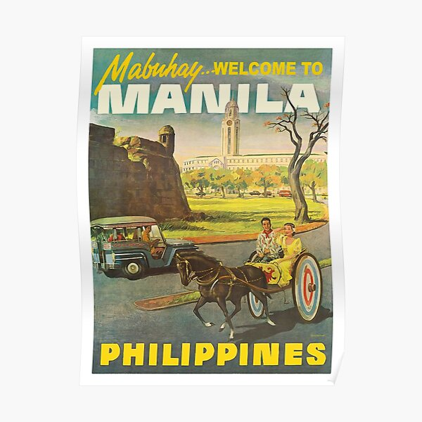 Philippines, streets of Manila city Poster