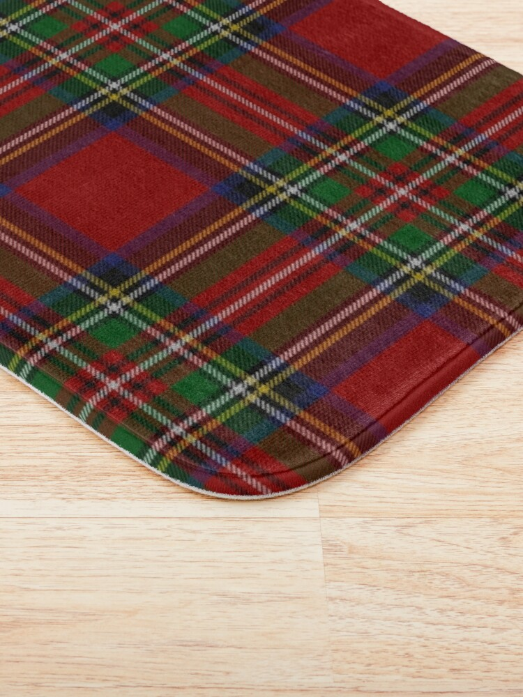 Alternate view of Royal Stewart Tartan Clan Bath Mat