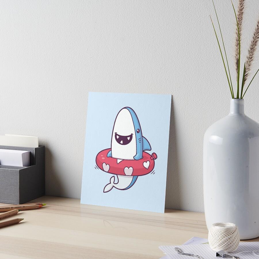 Shark Summer Fun Art Board Print