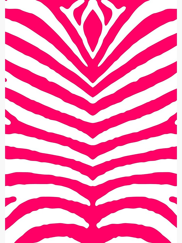 """Bright Neon Pink and White Zebra Animal Safari Stripes ..."