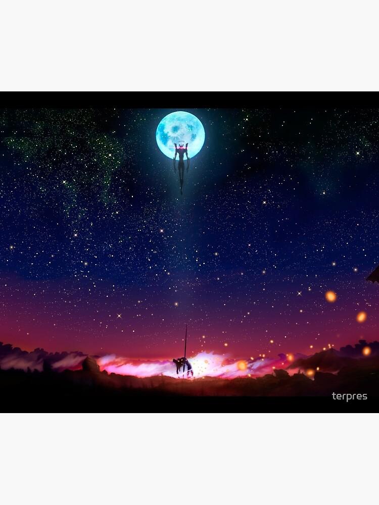 Evangelion Moon by terpres