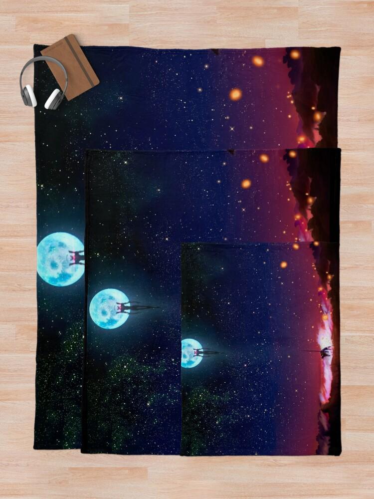 Alternate view of Evangelion Moon Throw Blanket