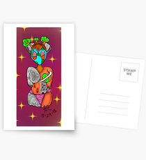 Space alien Postcards