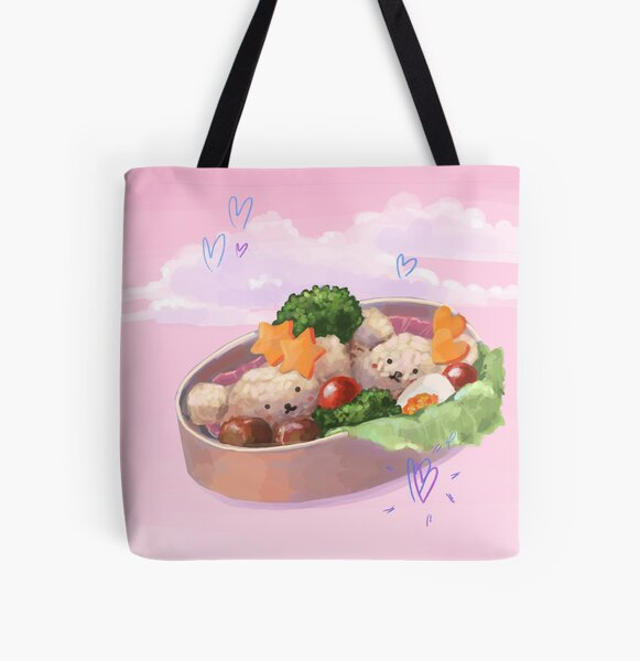 Cute Bento Box All Over Print Tote Bag