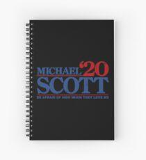blue font Spiral Notebook
